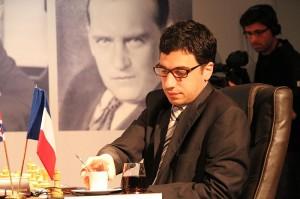 Laurent Fressinet au mémorial Alekhine 2013 (wikimedia)