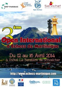 L'affiche de l'Open international de Martinique 2014