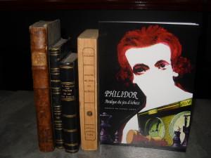 5 éditions du Philidor 1777, 1803, 1850, 1870 et 2014